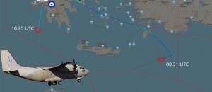 Τι γύρευε το Ελληνικό C-27 στο «Τρίγωνο των Βερμούδων των transponder» νότια της Κρήτης;