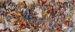Η πρώτη πολιορκία του Μεσολογγίου, 25 Oκτωβρίου 1822,